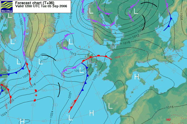 Latest Atlantic Pressure Chart [Met. Office]