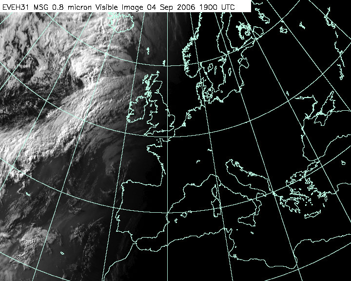 Latest Atlantic Visible Satellite Image