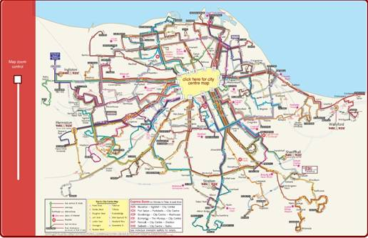 Lothian Buses Route Map 4.3. Route finding process
