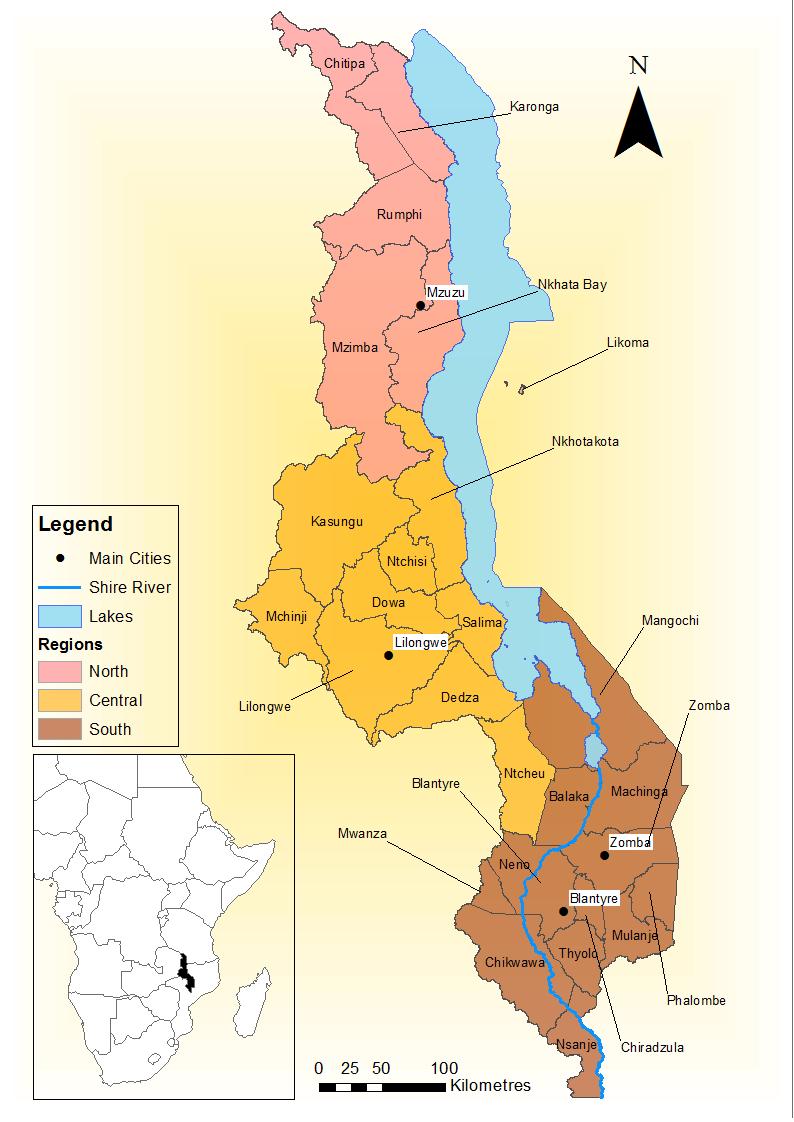 Malawimappng - Malawi map png