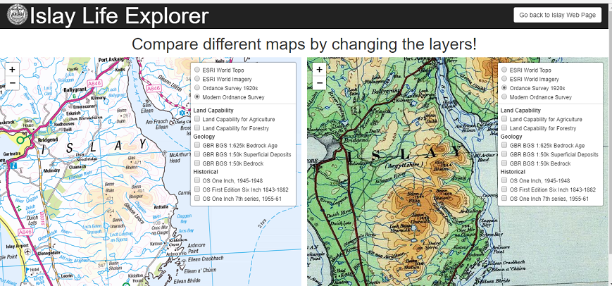 Mapping History, A web map for Islay