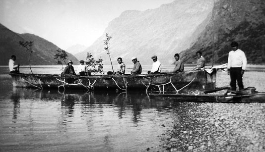 Umiak And Crew On The Shores Of Taserssuak Lake Greenland